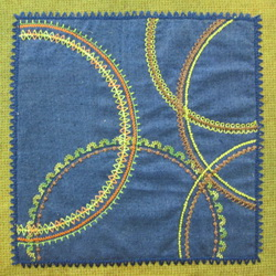 Circular Sewing Square Sample