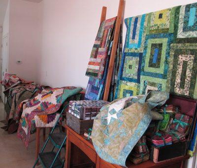 Batik quilts and fabrics